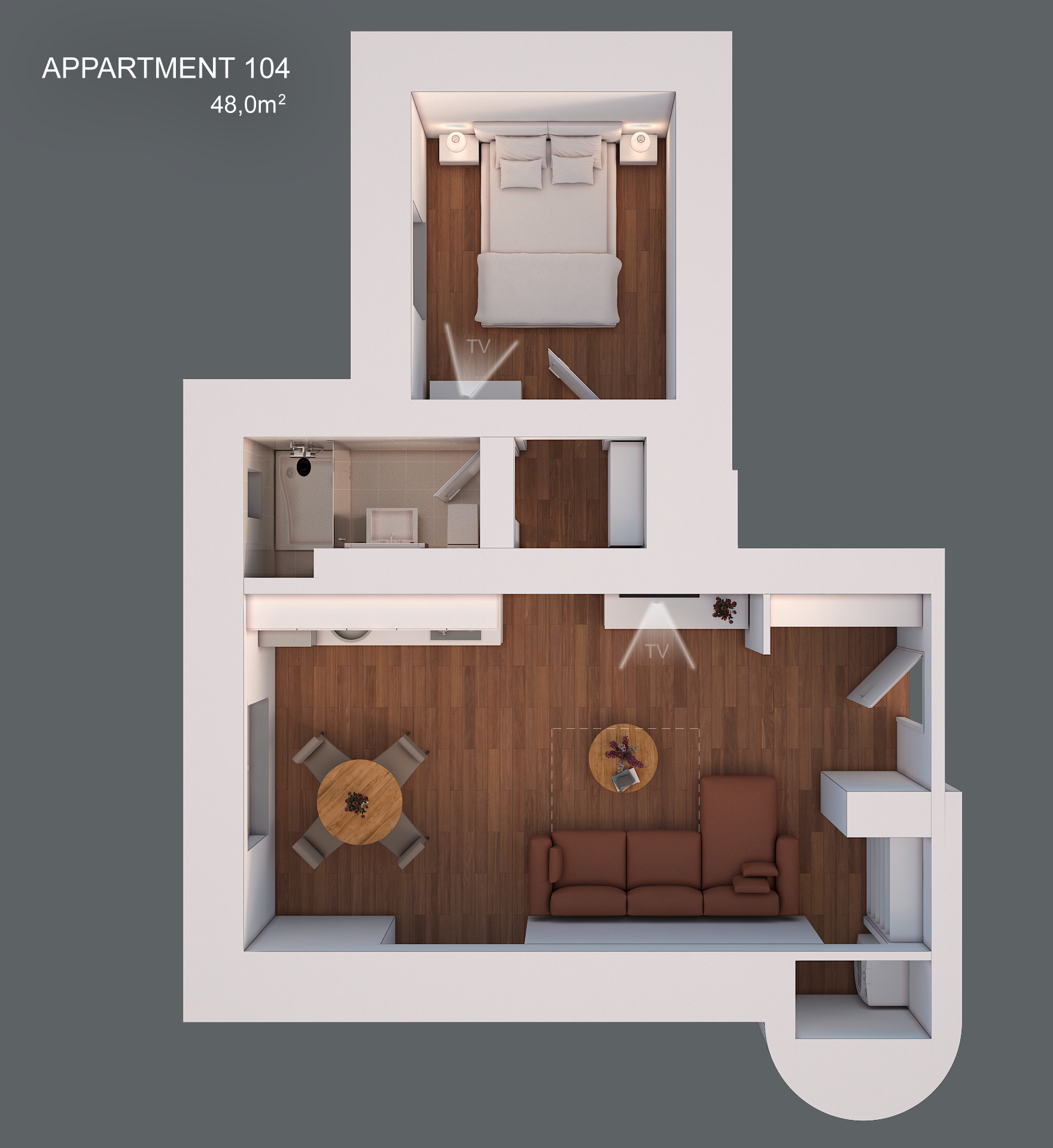 Apartment 104 layout