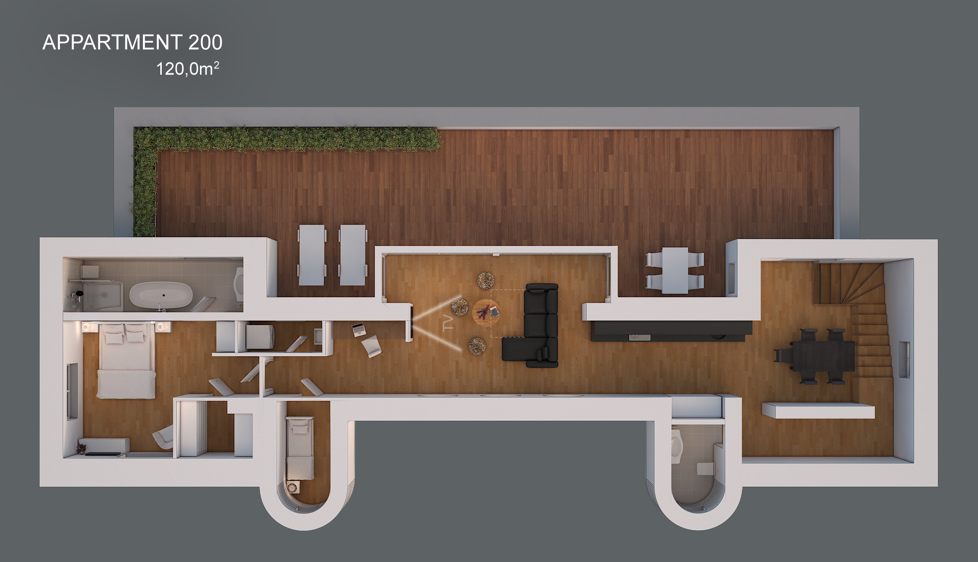 Apartment 200 layout