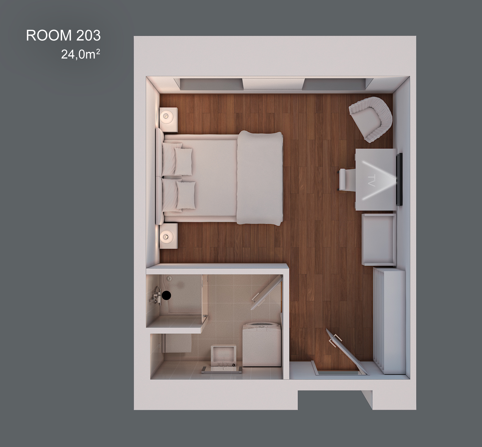 Room 203 layout