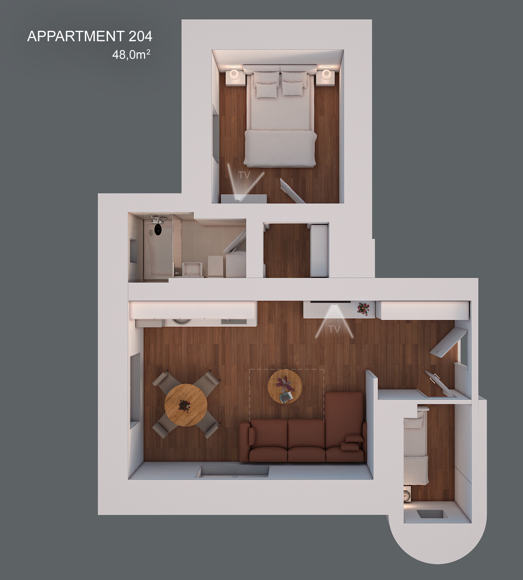 Apartment 204 layout